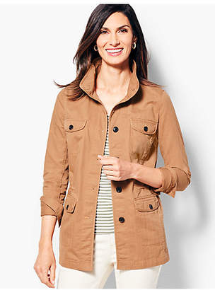 Talbots Twill Shirt Jacket