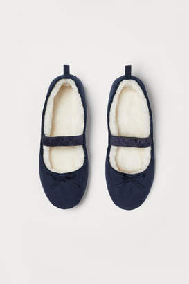 H&M Pile-lined Ballet Slippers - Blue