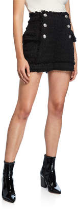 Balmain High-Rise Tweed Shorts
