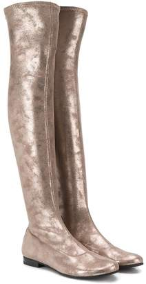 MonnaLisa knee length metallic boots