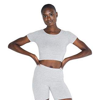 American Apparel Women's Cotton Spandex Jersey Short Sleeve Crop T-Shirt