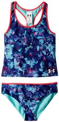 Under Armour Kids Metaquartz Rev Tankini Girl's Swimwear