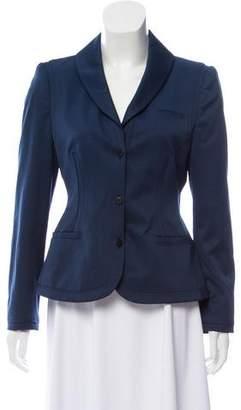 Zac Posen Wool Button-Up Blazer