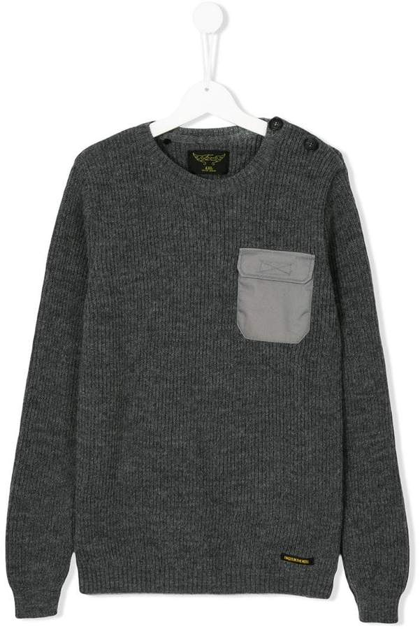 chest pocket sweater