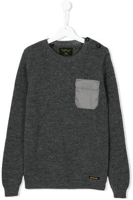 Finger In The Nose chest pocket sweater