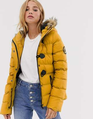 Brave Soul wizard padded coat with faux fur hood