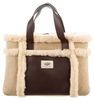 UGG Australia Shearling & Leather Tote $80 thestylecure.com