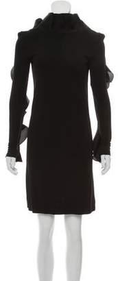 8479a77d3 Gucci Ruffle-Trimmed Mini Dress w/ Tags