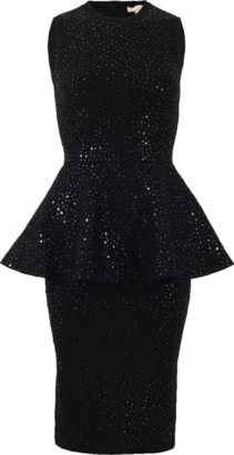 Michael Kors Beaded Peplum Dress
