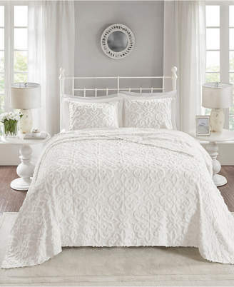 Sabrina Madison Park 3-Pc. Full/Queen Tufted Cotton Chenille Bedspread Set