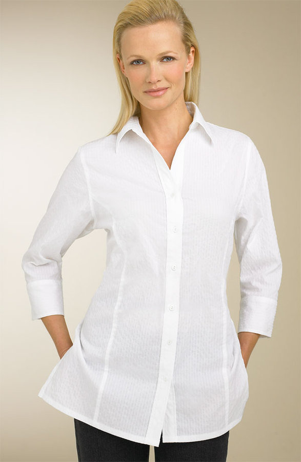 Foxcroft Pucker Tunic Shirt