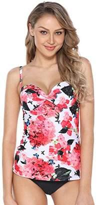 Marina Threads Women's Floral Tankini Swimsuit Underwire Swimwear