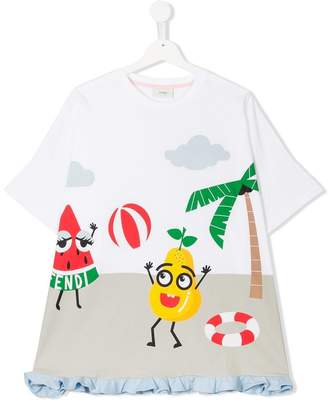 Fendi fruit at play printed T-shirt