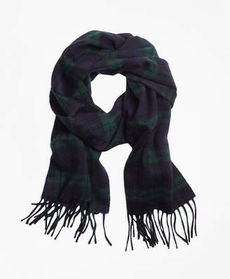 Brooks Brothers Cashmere Black Watch Scarf