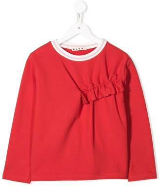 Marni long sleeved frill top