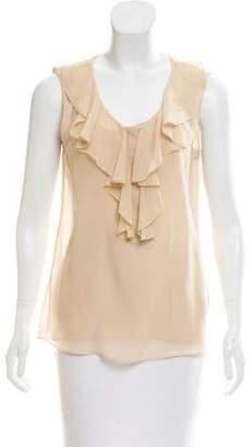 Rachel Zoe Ruffled Silk Top