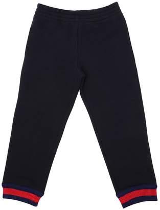 Gucci Cotton Sweatpants W/ Web Detail