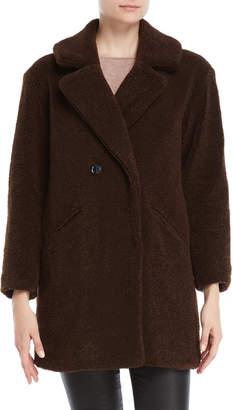 Lucky Brand Teddy Bear Textured Coat