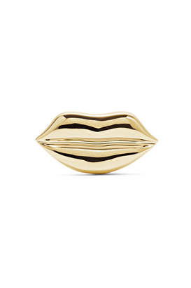 Alison Lou Lip 14-karat Gold Earring - one size