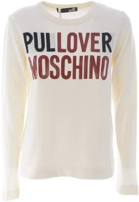 Love Moschino Logo Print Jumper