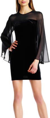 Aidan Mattox Velvet & Chiffon Dress