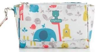 Camilla And Marc pirulos 47912220 – Cosmetic Bag, Design Happy Zoo, 20 x 26 cm, White/Grey