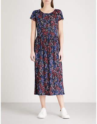 Claudie Pierlot Floral-print linen-blend midi dress