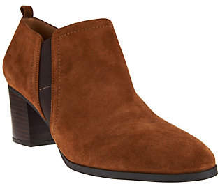 Franco Sarto Leather or Suede Ankle Boots -Banner