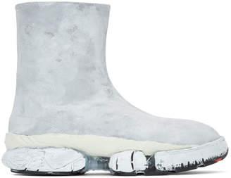 Maison Margiela White Multi-Sole Tabi Sneaker Boots