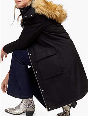 Clean Pocket Detail Parka Jacket