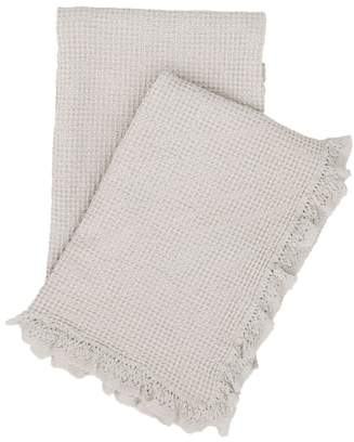 Pine Cone Hill Lace Ruffle Throw