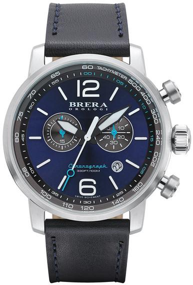 BreraBrera Men&s Dinamico Chronograph Leather Strap Watch