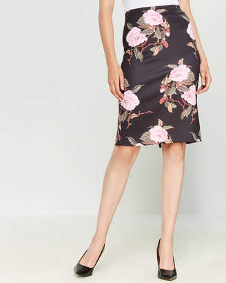 philosophy Floral Print Pull-On Pencil Skirt