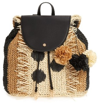 Tommy Bahama Bahama Mama Straw Backpack - Black $118 thestylecure.com