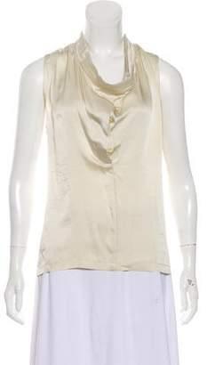 Ann Demeulemeester Sleeveless Silk Top