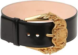 Versace 70mm Leather High Waist Belt