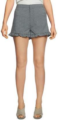 1 STATE 1.STATE Checked Ruffle-Hem Shorts