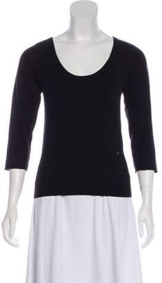 Burberry Scoop Neck Long Sleeve Top Black Scoop Neck Long Sleeve Top