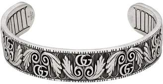 Gucci Bracelet with Double G and leaf motif