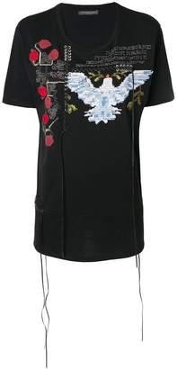 Alexander McQueen lace detail bird T-shirt