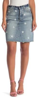 Velvet Heart Yelena Star Embroidered Denim Skirt
