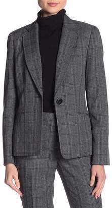 Kasper Tweed Long Sleeve Blazer