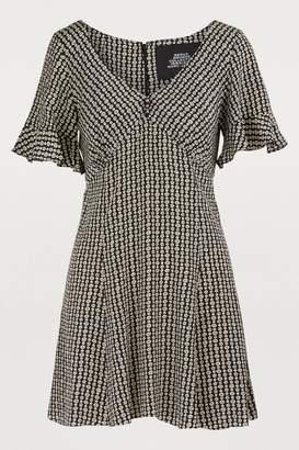 Marc Jacobs Short-sleeved silk dress
