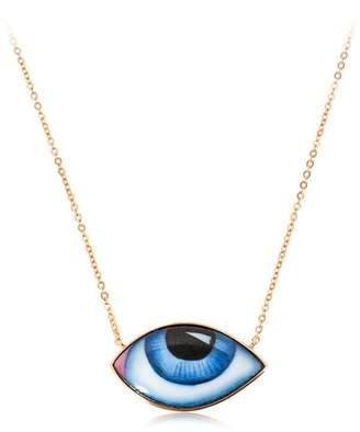 Escapulario Enameled Eyes Necklace