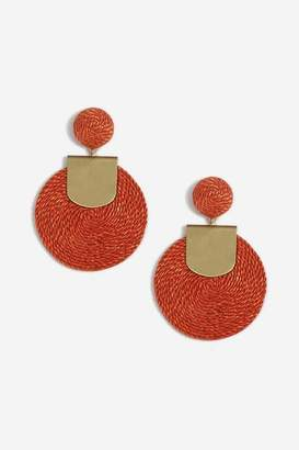 Topshop Womens Wrapped Disc Drop Earrings