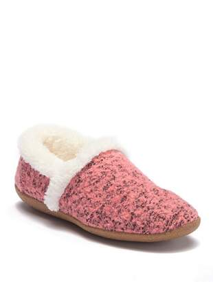 Toms Faded Rose Faux Fur House Slippers