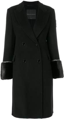 Ermanno Scervino double breasted coat with fur cuffs