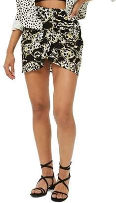 Topshop Chain Print Miniskirt