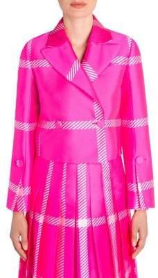 Fendi Jacquard Crop Double-Breasted Jacket