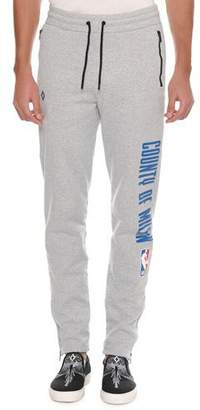 Marcelo Burlon County of Milan Men's NBA Tapered-Leg Sweatpants